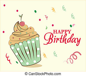 gelukkige verjaardag, taart