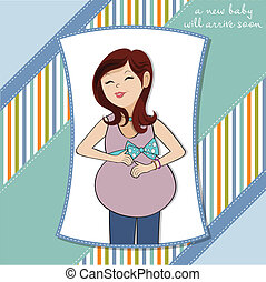 gelukkige vrouw, zwangere