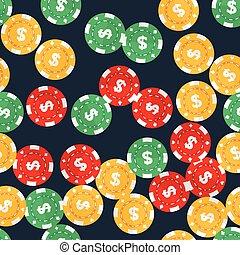 geluksspelletjes, casino spaanders, seamless, model