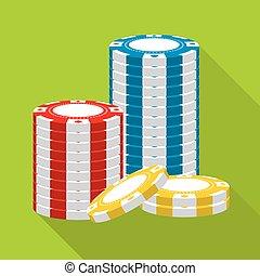 geluksspelletjes, casino spaanders, stapel