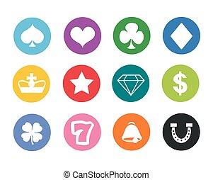geluksspelletjes, iconen