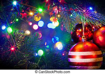 gelul, boompje, kerstmis, hangend