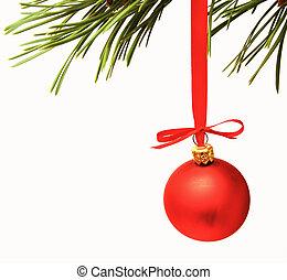 gelul, cristmas, versiering, rood