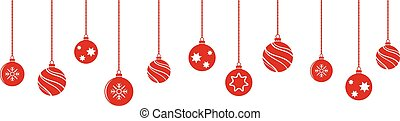 gelul, decoraties, isoladed, versieringen, hangend, kerstmis