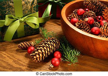 gelul, kegel, kerstmis, dennenboom, kadootjes