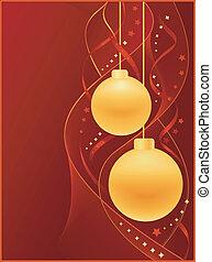 gelul, kerstmis, achtergrond, rood
