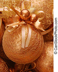 gelul, kerstmis, goud