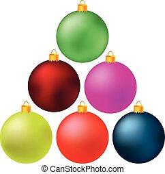 gelul, kerstmis, kleurrijke