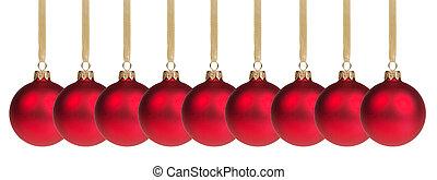 gelul, kerstmis, lint, hangend