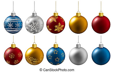 gelul, kleurrijke, achtergrond, hangend, witte kerst