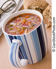 gemüse, becher, suppe, nudelgerichte, kornkammer, rolle,...