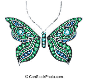 Gem Butterfly - butterfly made of colored gems