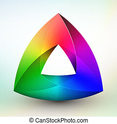 Gem color wheel on white background in eps 10 format