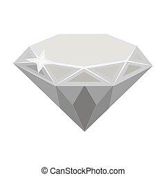 Gem diamond. A valuable prize in the casino.Kasino single icon in monochrome style vector symbol stock illustration.
