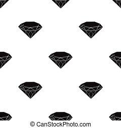 Gem diamond. A valuable prize in the casino.Kasino single icon in black style vector symbol stock illustration.