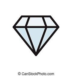 gem  flat color icon