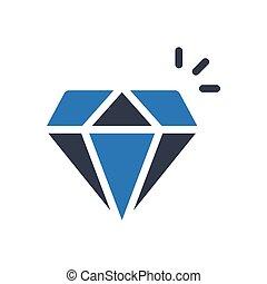 gem glyph color icon