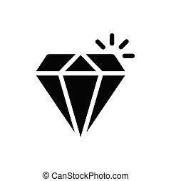 gem  glyph flat icon