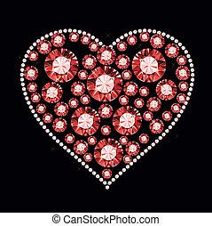 Gem Heart - heart made of shiny gems