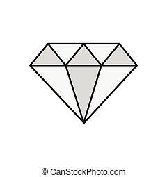 gem line flat icon
