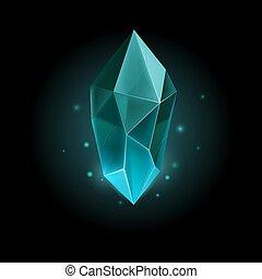 Gem Icon - Gem or Crystal. Magic Diamond, Accessory for a...