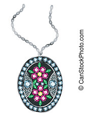Gem Pendant - Pendant made of colored gems