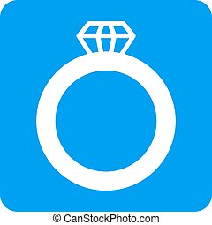 Gem Ring Rounded Square Vector Icon