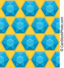 gem Sapphire seamless pattern. Vector background of blue gemstones.