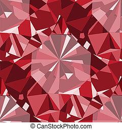 Ruby seamless pattern background.