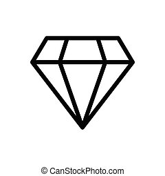 gem thin line icon