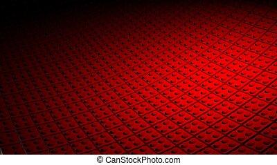 gemaakt, blokjes, lego, minimaal, achtergrond, rood, 3d
