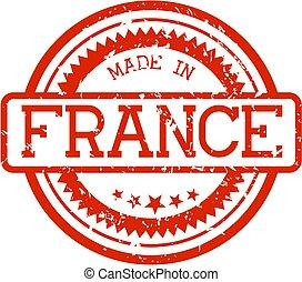 gemaakt, frankrijk, postzegel, rubber