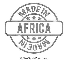 gemaakt, in, afrika