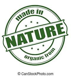 gemaakt, in, natuur