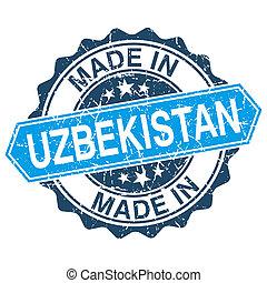 gemaakt, in, oezbekistan, ouderwetse , postzegel,...