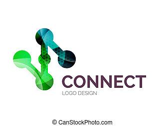 gemaakt, kleur, stukken, verbinding, ontwerp, logo, pictogram