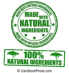 gemaakt, met, natuurlijke , ingredienten, postzegels