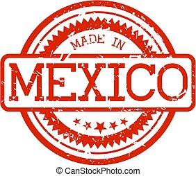 gemaakt, mexico, postzegel, rubber
