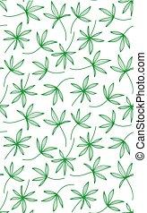 gemaakt, model, bladeren, seamless, palm, achtergrond, witte
