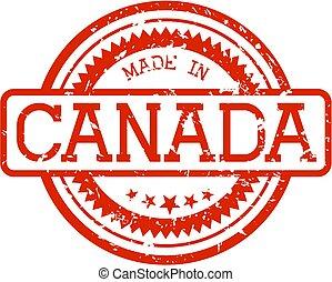 gemaakt, rubberstempel, canada