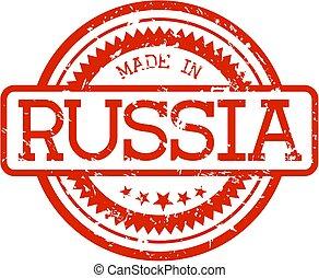 gemaakt, rusland, rubberstempel