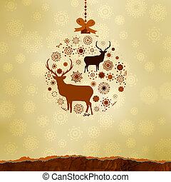 gemaakt, snowflakes., eps, versieringen, 8, kerstmis