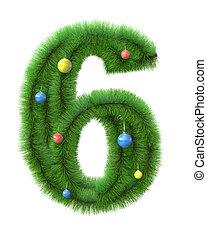 gemaakt, takken, boompje, nummer 6, kerstmis