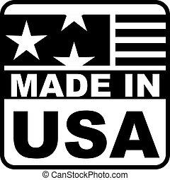 gemaakt, usa, etiket