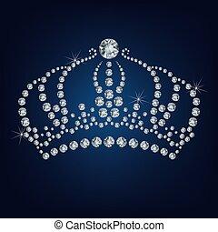 gemacht, krone, los, diamanten