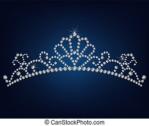 gemacht, tiara, los, diamanten
