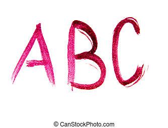 gemalt, briefe, a, b, c