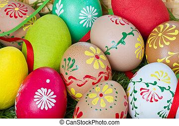gemalt, eier, ostern