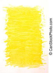 gemalt, gelber hintergrund