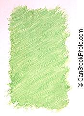 gemalt, grüner hintergrund